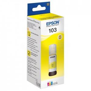 image. Bouteille d'encre EPSON 103 EcoTank Yellow pour EcoTank L5190/ L3160/ L3156/ L3151/ L3150/ L3111/ L3110/ L1110, 65ml  -  Advanced Office Algérie