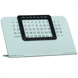 Calendrier de bureau Perpétuel unique Blanc en plastique à cadran Noir