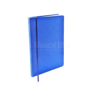 Agenda A5 à fermeture élastique Boucle pour stylo Bleu