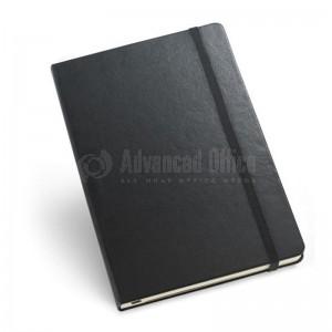 Agenda A5 à fermeture élastique Boucle pour stylo Noir