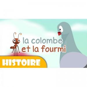Livre les Contes pour enfants avant le coucher La Colombe et la Fourmi (1er Série)