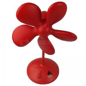 Ventilateur ADDEX HOME Soft fan en PU, Silencieuse à 2 vitesses, 36cm, Adaptateur 4.5V AC inclus, Rouge