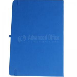 image. Note book A4 175 x 260mm, 200 pages couverture PU Bleu clair avec Boucle pour stylo  -  Advanced Office Algérie