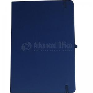 image. Note book A4 175 x 260mm, 200 pages couverture PU Bleu foncé avec Boucle pour stylo  -  Advanced Office Algérie