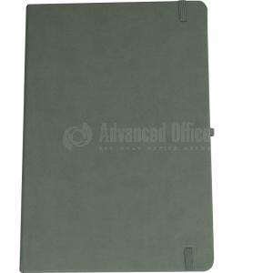 image. Note book A4 175 x 260mm, 200 pages couverture PU Gris avec Boucle pour stylo  -  Advanced Office Algérie