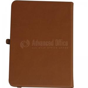 Note book A4 175 x 260mm, 200 pages couverture PU Marron avec Boucle pour stylo  -  Advanced Office Algérie