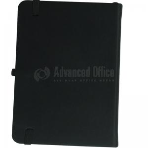 image. Note book A4 175 x 260mm, 200 pages couverture PU Noir avec Boucle pour stylo  -  Advanced Office Algérie