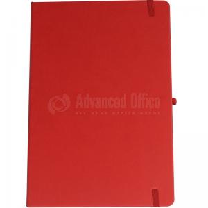 image. Note book A4 175 x 260mm, 200 pages couverture PU Rouge avec Boucle pour stylo  -  Advanced Office Algérie