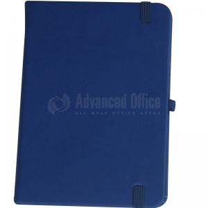 Note book A6 150 x 105mm, 200 pages couverture PU Bleu foncé avec Boucle pour stylo