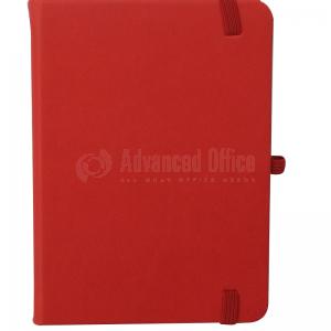 Note book A6 150 x 105mm, 200 pages couverture PU Rouge avec Boucle pour stylo
