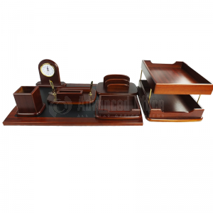 Ensemble de bureau de luxe 7 pcs en bois marron