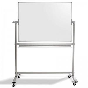 Tableau blanc magnétique mobile à roulette 2X3, 70x100cm avec deux bras