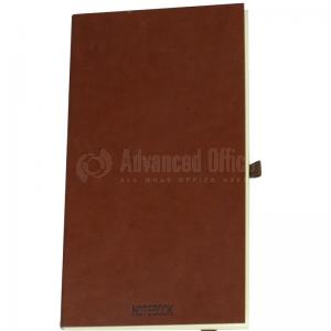 Note Book Pocket A6 9x16cm 96 pages à fermeture élastique et Boucle pour stylo Marron