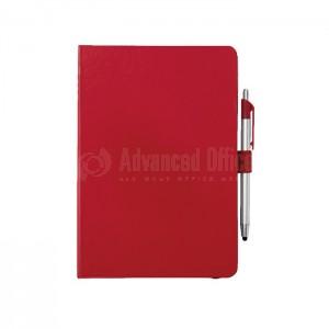 Agenda A5 à fermeture élastique Boucle pour stylo Rouge  -  Advanced Office Algérie