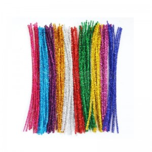 Fils chenille TECHNO Couleurs Brillant 30cm 30Pcs