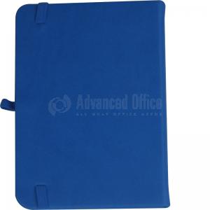 image. Note book A6 150 x 105mm, 200 pages couverture PU Bleu clair avec Boucle pour stylo  -  Advanced Office Algérie