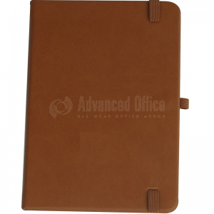 image. Note book A6 150 x 105mm, 200 pages couverture PU Marron avec Boucle pour stylo  -  Advanced Office Algérie