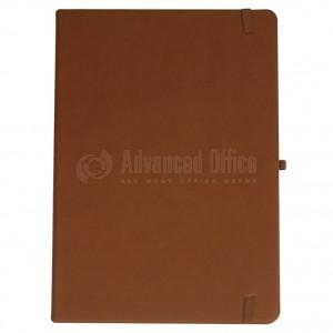 Agenda notebook A4 à fermeture élastique avec une poche a l'intérieur et Boucle pour stylo Marron  -  Advanced Office Algérie