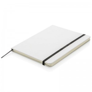 Note book A6 150 x 105mm, 200 pages couverture PU Blanc