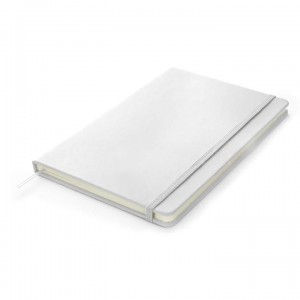 Notebook A5 à fermeture élastique Boucle pour stylo Blanc