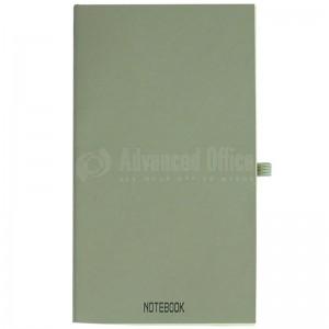 Agenda notebook A6 à fermeture élastique, Gris avec une poche a l'intérieur et Boucle pour stylo