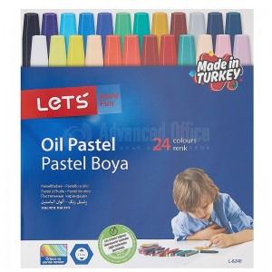 Boite de 24 Crayons de cire à huile LET'S Color Up