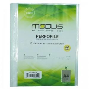 Rame de 10 pochettes perforées transparentes A4 MODUS 80 Mic
