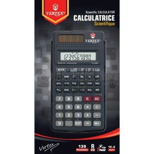 Calculatrice scientifique VERTEX VS-304D 139 fonctions - Advanced Office