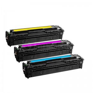 Pack 3 toners Universel CB541A/2A/3A,CE321A/2A/3A,CF211A/2A/3A CORAL Compatible  HP 125A/128A/131A  équivalent  CANON 716/731 C/Y/M