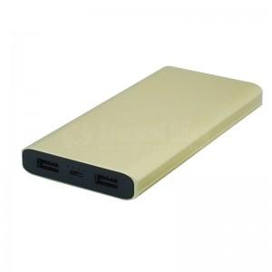 Power Bank TIMI Metal Shell T005, 10 000 Mah, 2 USB, Micro USB, Gold Sans Logo (Personnalisable)