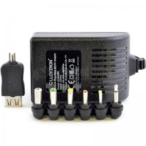 Chargeur universel UNIROSS 6 jacks + USB 3V-12V 1500ma