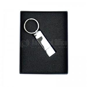 Clé USB et porte clé métal 8Go