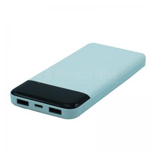 Power Bank TIMI Metal Shell T006, 10 000 Mah, 2 USB, Micro USB, Blanc Noir (Sans logo)