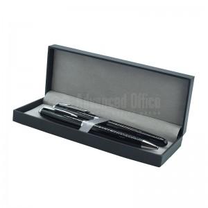 Parure de 2 Stylos Bille et Roller Noir brillant, en boite noire