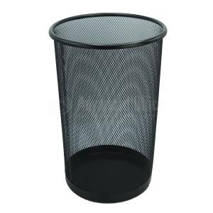 Corbeille à papier Métallique  Ronde GM Noir