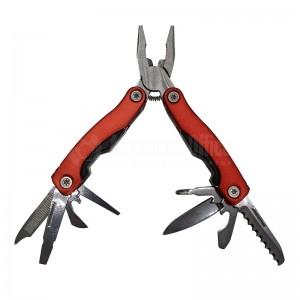 Couteau Suisse Multifonctions Rouge (Pince + 8 outils) avec étui Noir
