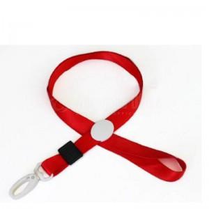 Cordon pour badge 1.5 cm avec clips Rouge  -  Advanced Office Algérie