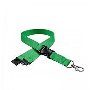 Cordon pour badge 20mm avec sécurité Vert  -  Advanced Office Algérie