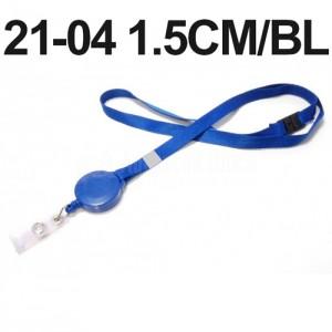 Cordon pour badge Yoyo 1.5 cm avec sécurité Bleu  -  Advanced Office Algérie