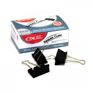 Binder clips DINGLI 51mm boite de 12 pcs