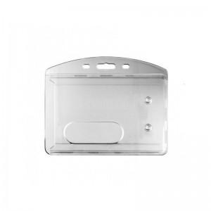 Porte badge dur transparent horizontal 1186-8  -  Advanced Office Algérie
