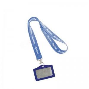 Cordon pour badge imprimable bleu  -  Advanced Office Algérie