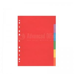 Intercalaire cartonné 6 couleurs CV