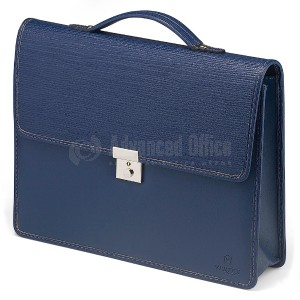 Cartable séminaire VERTEX E6066-6 en PU Bleu vague  -  Advanced Office Algérie