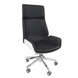 Chaise directionnelle MODUS en simili cuir Noir, sans accoudoirs, Piétement Chromé  -  Advanced Office Algérie