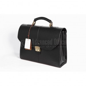 Cartable VERTEX V6002-1N en véritable cuir 3P Noir