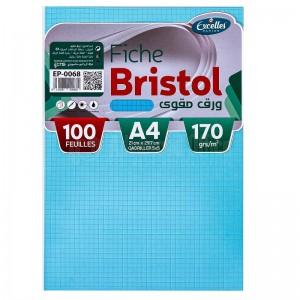 Pochette papier Bristol EXCELLES quadrille 5*5 A4 170g 100 Feuilles Bleu  -  Advanced Office Algérie