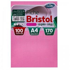 Pochette papier Bristol EXCELLES quadrille 5*5 A4 170g 100 Feuilles Rose  -  Advanced Office Algérie