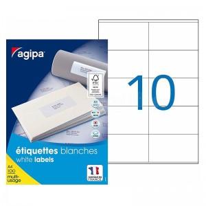 Rame de 1000 d'étiquettes autocollantes AGIPA  -  Advanced Office