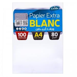Rame de papier EXCELLES A4 Blanc 80g 100 Feuilles  -  Advanced Office Algérie